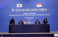 Indonesia và Hàn Quốc ký kết Hiệp định thương mại tự do