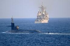 Tàu ngầm hạt nhân Mỹ đi qua Eo biển Hormuz khi căng thẳng leo thang