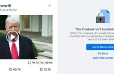 Mỹ: Tổng thống Trump bị khóa hàng loạt tài khoản mạng xã hội