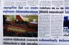Báo Lào tin tưởng vào thành công của Đại hội Đảng XIII