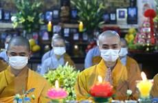 Chùa Phúc Khánh tổ chức 'cầu an online' để tránh tụ tập đông người