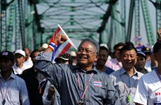 Thủ lĩnh biểu tình Suthep tuyên bố không thương lượng