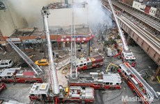 Chùm ảnh về vụ nổ khí gas gây sập nhà tại New York