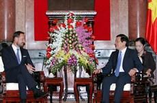 Chủ tịch nước Trương Tấn Sang tiếp Thái tử Na Uy