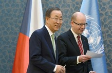 Ông Ban Ki-moon đề nghị Séc gửi binh sỹ tới Trung Phi