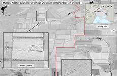 Nga: Mỹ đưa ra hình ảnh vệ tinh giả về vụ pháo kích vào Ukraine