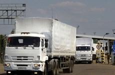 Nhóm xe cứu trợ nhân đạo đầu tiên của Nga đã tới Lugansk