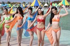 [Photo] Thí sinh phía Nam Hoa hậu Việt Nam với trang phục áo tắm