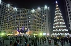 Thắp sáng cây thông Noel cao nhất Việt Nam tại Bình Dương
