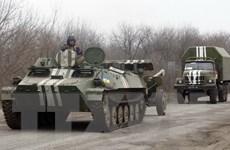 Quân đội Ukraine tiếp tục rút vũ khí hạng nặng ra khỏi Donbass