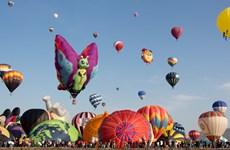 Rực rỡ lễ hội khinh khí cầu quốc tế lần thứ 14 tại Mexico