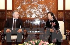 Phó Chủ tịch nước tiếp Đoàn đại biểu Liên hiệp Công đoàn Belarus