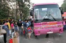 Nhân rộng những chuyến xe nghĩa tình đưa công nhân về quê đón Tết