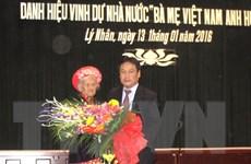 Hà Nam phong, truy tặng danh hiệu cho 23 mẹ Việt Nam Anh hùng