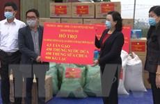 Hỗ trợ đầy đủ nhu yếu phẩm cho gần 3.000 hộ ở thôn Hạ Lôi