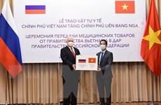 Việt Nam tặng Nga 150.000 khẩu trang vải kháng khuẩn chống giọt bắn