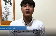 Tiền đạo Hà Đức Chinh góp mặt trong chiến dịch chống COVID-19 của AFC