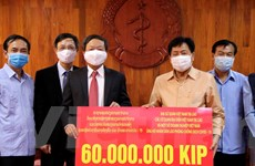 Đại sứ quán Việt Nam hỗ trợ Lào phòng chống dịch bệnh COVID-19