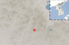 Xảy ra động đất có độ lớn 3,8 độ Richter tại miền Đông Triều Tiên