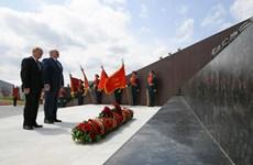 Tổng thống Nga, Belarus khai trương đài tưởng niệm người lính Liên Xô