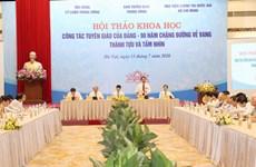 Hội thảo về công tác Tuyên giáo của Đảng - 90 năm chặng đường vẻ vang