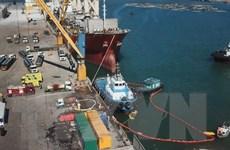 Thanh Hóa: Diễn tập ứng phó sự cố tràn dầu ở cảng Quốc tế Nghi Sơn