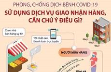 [Infographics] COVID-19: Sử dụng dịch vụ giao nhận hàng, cần chú ý gì?