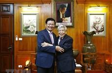 Nguyên lãnh đạo Lào chia sẻ kỷ niệm về nguyên Tổng Bí thư Lê Khả Phiêu