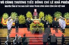 Lãnh đạo một số nước chia buồn về việc nguyên TBT Lê Khả Phiêu từ trần