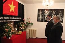 Lễ viếng và mở sổ tang nguyên TBT Lê Khả Phiêu tại Algeria, Slovakia