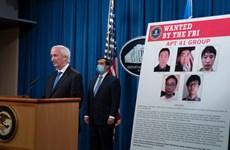 Mỹ buộc tội tin tặc với 7 công dân Trung Quốc và Malaysia