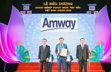 Amway Việt Nam nhận giải Doanh nghiệp tiêu biểu Việt Nam-ASEAN 2020