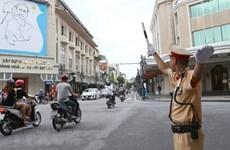 Phân luồng giao thông dịp ĐH Đảng bộ Hà Nội và Đảng bộ Công an