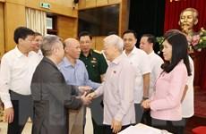 [Photo] Tổng Bí thư, Chủ tịch nước tiếp xúc cử tri thành phố Hà Nội