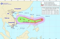 Siêu bão Goni di chuyển theo hướng Tây, sức gió cấp 13, giật cấp 15