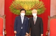 Tổng Bí thư, Chủ tịch nước tiếp Chủ tịch Quốc hội Hàn Quốc