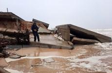 Quảng Nam: Bão số 13 gây sạt lở nghiêm trọng gần 4 km bờ biển Cẩm An