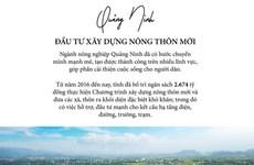 [Infographics] Quảng Ninh đẩy mạnh đầu tư xây dựng nông thôn mới
