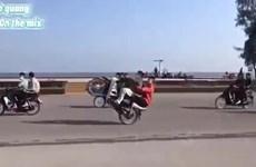 Xử lý nghiêm nhóm thanh niên chạy xe máy náo loạn thành phố Sầm Sơn