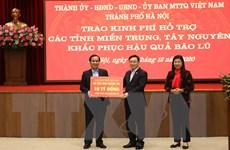 Hà Nội hỗ trợ miền Trung, Tây Nguyên 91 tỷ đồng khắc phục mưa lũ