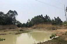 Vĩnh Phúc chỉ đạo xử lý dứt điểm tình trạng khai thác đất trái phép