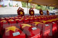 Truy điệu, an táng 262 hài cốt liệt sỹ Việt Nam hy sinh tại Campuchia