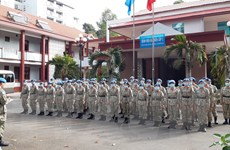 [Photo] Bệnh viện dã chiến cấp 2 số 3 Việt Nam vào đợt huấn luyện cuối