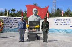 Trang nghiêm tượng đài Đại tướng Võ Nguyên Giáp tại quần đảo Trường Sa