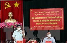 Giám sát, kiểm tra công tác bầu cử tại tỉnh Kon Tum, Hòa Bình