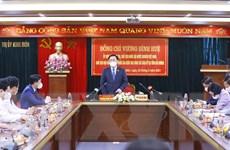 Chủ tịch Quốc hội Vương Đình Huệ kiểm tra công tác bầu cử ở Hải Dương