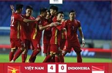 Đội tuyển Việt Nam trụ vững ở ngôi đầu bảng G sau trận thắng Indonesia