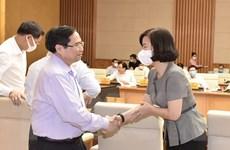 [Photo] Thủ tướng Phạm Minh Chính gặp mặt với các cơ quan báo chí