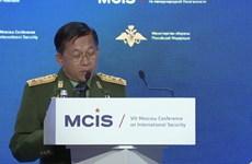 Lãnh đạo quân sự Myanmar đến Moskva dự hội nghị an ninh quốc tế