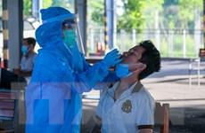 Sinh viên Đại học Y Dược Cần Thơ tham gia trực chốt kiểm dịch COVID-19
